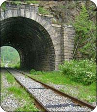 Схема участка железной дороги